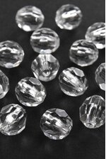 12MM ROUND FACETED BEAD CRYSTAL PKG/180 APPROXIMATELY