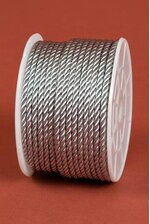 2MM X 20YDS SATIN CORD SILVER