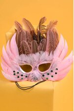 FEATHER MASK PINK