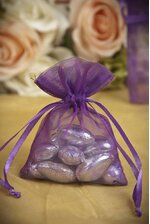 "3"" X 4"" SHEER POUCHES BAG PURPLE PKG/12"