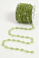 10YDS BEADED GARLAND ROLL APPLE GREEN