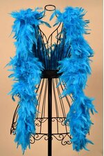 "72"" FEATHER BOAS (60gm) TURQUOISE"