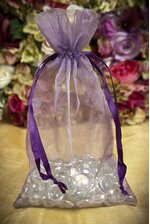 "6 X 10"" ORGANZA POUCHES PURPLE PKG/12"