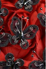 """2"""" WIRED DECORATION BUTTERFLY BLACK PKG/20"""