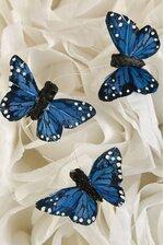 1'' MINI BUTTERFLY BLUE PKG/12