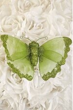 "6"" SHEER BUTTERFLY LIME GREEN"