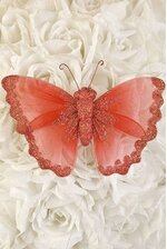 "6"" SHEER BUTTERFLY RED"