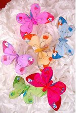 "4"" FEATHER BUTTERFLY ASSORTED PKG/12"