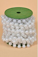 12MM X 10YDS PEARL GARLAND WHITE