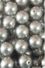 20MM ABS PEARL BEADS SILVER PKG(500g)
