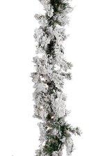 "9FT X 10"" FURRY PINE GARLAND GREEN/WHITE"