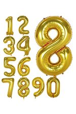 "40"" NUMBER FOIL BALLOONS GOLD"