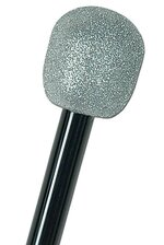 GLITTERED MICROPHONE SILVER/BLACK