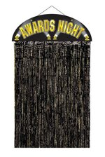 AWARDS NIGHT DOOR CURTAIN BLACK/GOLD