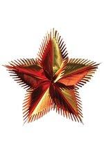 """24"""" LEAF STAR BURST GOLD/ORANGE"""