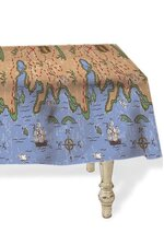 "54"" x 108"" TREASURE MAP PLASTIC TABLE COVER"