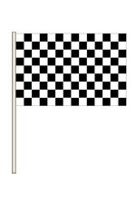 "4"" X 6"" PLASTIC RACING FLAG BLACK/WHITE PKG/12"