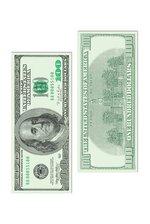 """7.5"""" X 17.5"""" BIG BUCKS CUTOUT $100 BILL GREEN PKG/3"""