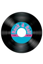 "3.5"" ROCK & ROLL RECORD COASTERS BLACK PKG/8"