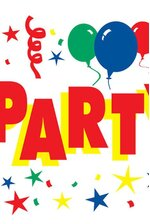 5FT THE PARTY'S HERE SIGN BANNER
