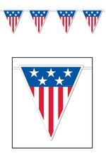 AMERICAN SPIRIT PENNANT BANNER RED/WHITE/BLUE
