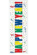 """5FT X 21"""" HAPPY NEW YEAR SIGN BANNER MULTI-COLOR"""