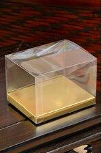 "4"" X 3"" X 2.75"" BOX/GOLD BOTTOM CLEAR PKG/12"