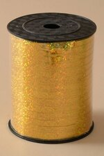 """3/16"""" X 500YDS HOLOGRAPHIC CURLING RIBBON GOLD"""