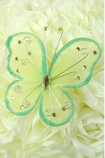 "5"" WIRED DECORATION BUTTERFLY APPLE GREEN"