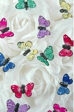 "0.5"" MINI BUTTERFLY ASSORTED PKG/12"