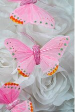 "3"" BUTTERFLY LIGHT PINK PKG/12"
