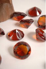 30MM CRYSTAL DIAMOND AMBER PKG/12