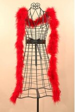 """72"""" FEATHER MARABOU RED EA"""