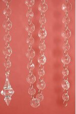 "76"" ACRYLIC SMALL & BIG BEAD GARLAND CLEAR EA."