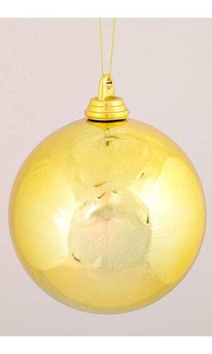150MM SHINY PLASTIC BALL GOLD