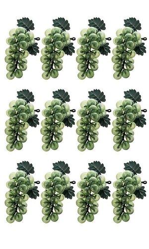 "4"" SMALL GRAPE PICK GREEN PKG/12"