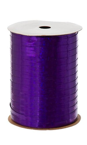 "3/16"" X 100YDS HOLOGRAPHIC CURLING RIBBON PURPLE"