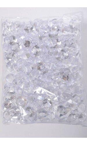 20MM ACRYLIC DIAMOND CLEAR PKG/1LB