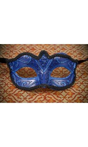 "3"" X 6"" VENETIAN COLOMBINA MASK BLUE"