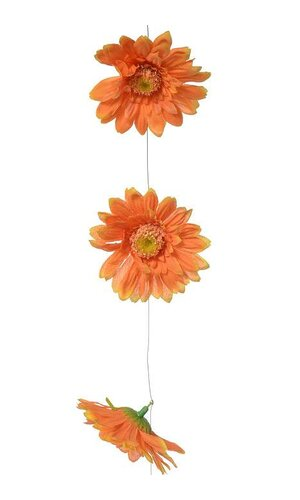 6FT ARTIFICIAL GERBERA DAISY GARLAND ORANGE