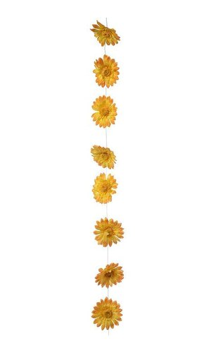 6FT ARTIFICIAL GERBERA DAISY GARLAND YELLOW