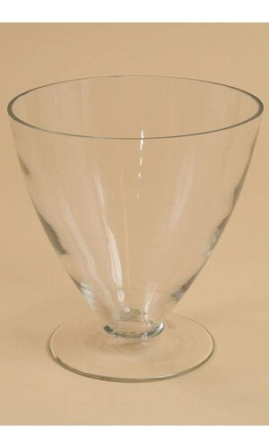 "7.75"" X 8"" MONROE GLASS VASE CLEAR"