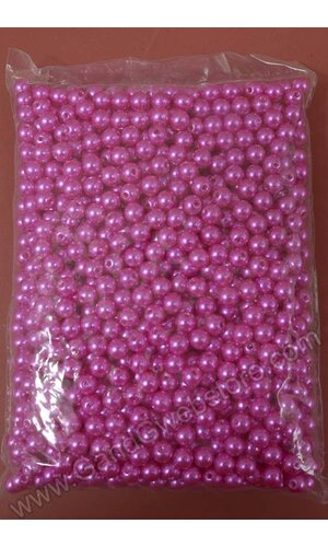8MM ABS PEARL BEADS HOT PINK PKG(500g)