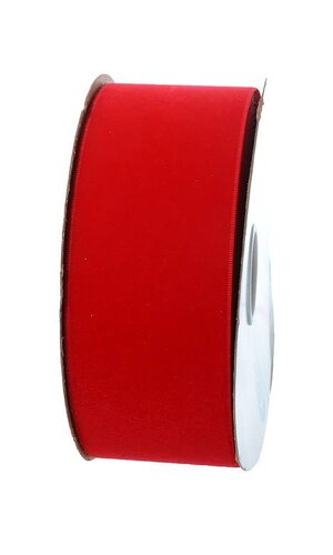 "2.5"" X 25YDS VELITA RIBBON RED"