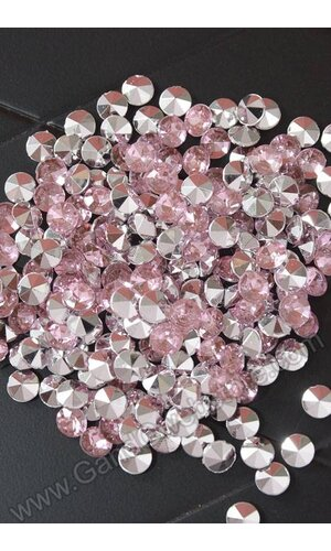 7MM ACRYLIC DIAMOND LIGHT PINK (APPR. 192 PCS)