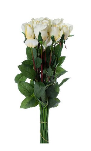 PLANTERS ROSE BUD CANDLE WHITE PKG/12