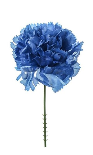"7"" SILK CARNATION PICK ROYAL BLUE PKG/100"