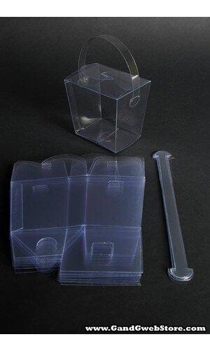 """3.5"""" X 2.5"""" X 3.25"""" PVC BOX CLEAR PKG/12"""