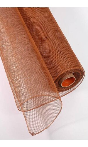 """21"""" X 10YDS FLORAL MESH CURRY BROWN"""