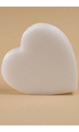 "16"" WHITE SOLID HEART EA"